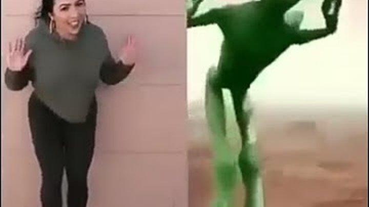 Танцующий зеленый человечек (Dame tu cosita)