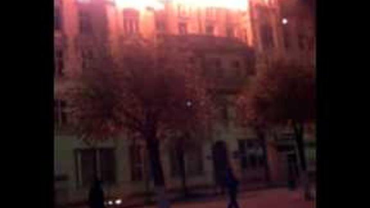 Пожар здания Кулек в ночь с 27 по 28 г.Советск
