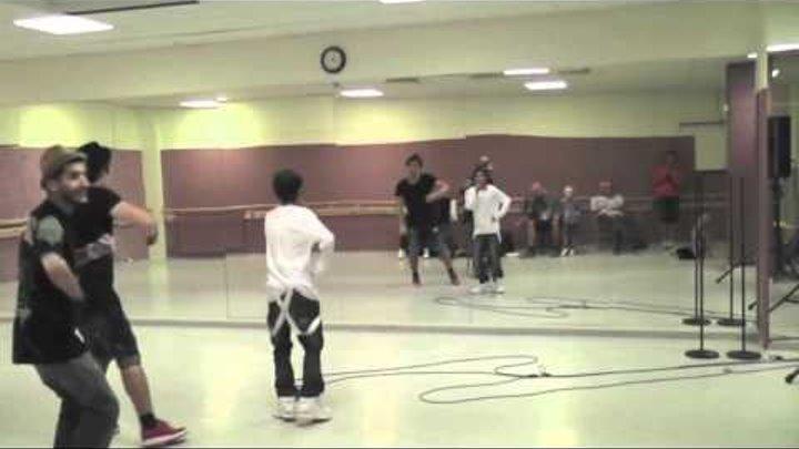 Omar Rudberg och Eric Saade tränar