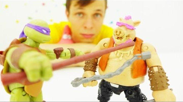 ЧЕРЕПАШКИ-НИНДЗЯ! Смотри новое видео про игрушки! Распаковка таиственной посылки. Видео для детей