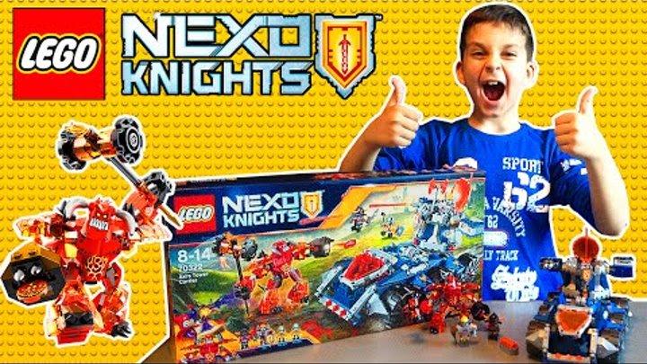 #ЛЕГО НЕКСОНАЙТС НОВИНКА ВТОРОГО ПОЛУГОДИЯ ТЯГАЧ АКСЕЛЯ 70322 #Lego Nexo Knights Axl`s Tower Carrier