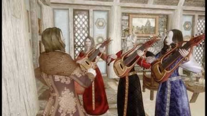 Skyrim Mods: Become a Bard, with Vilja in Skyrim, Junie and Angelina