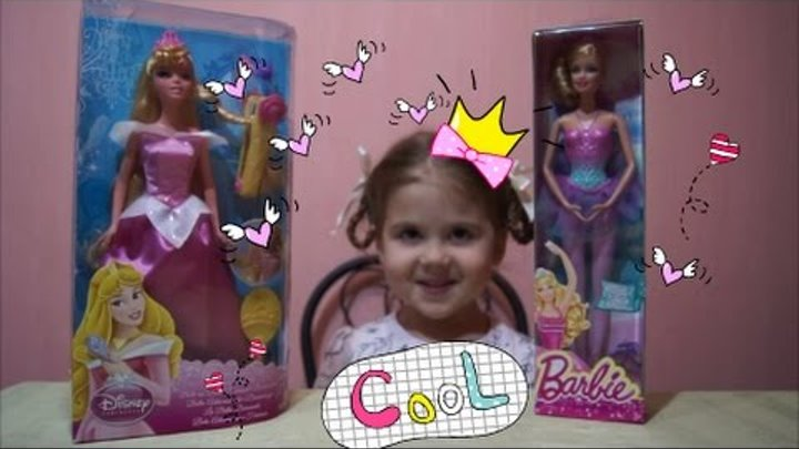 Обзор кукла принцесса Дисней Аврора барби балерина doll Princess Aurora Disney Barbie ballerina.