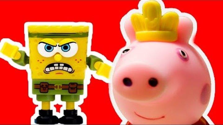 Свинка Пеппа на русском Мультфильм для детей Peppa Pig Мультик со Свинкой Пеппой СПАНЧ БОБ НЕМО