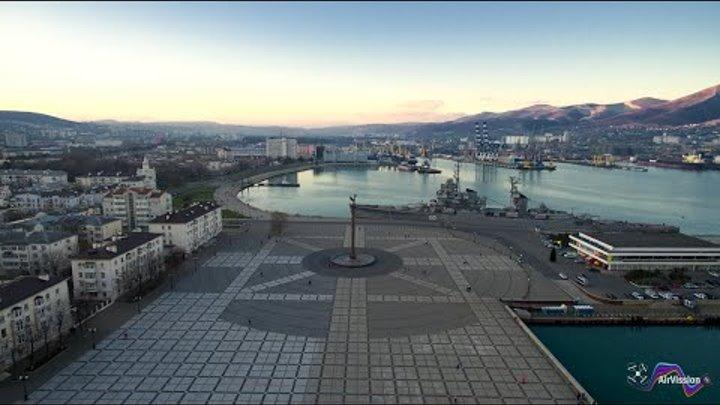 Город-герой Новороссийск с высоты