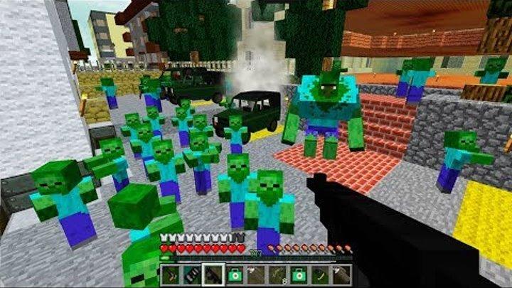 Мутант у Базы! День 29. Зомби Апокалипсис в Майнкрафт.