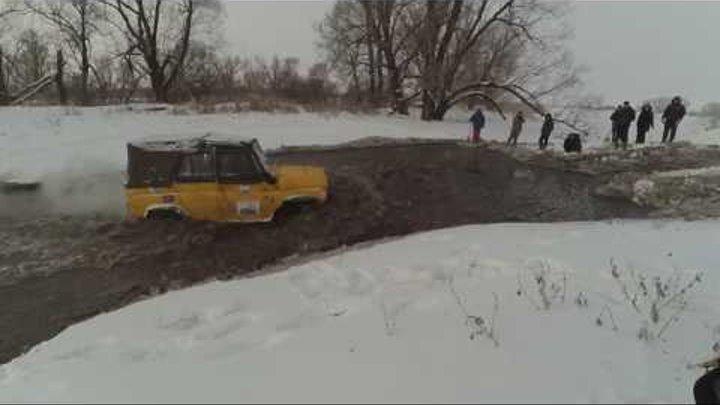 Зимний марафон часть вторая.(Первая серия).Patrol,L200,УАЗ, Нивы,Луаз, Волкодав в снегу.