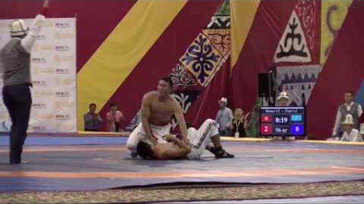 Нурбек Кожобеков в финале кыргыз курошу