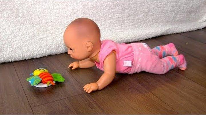 Кукла Пупсик Беби Аннабель Не хочет Ползать : Baby Annabell Walk Talk Baby Doll Toy
