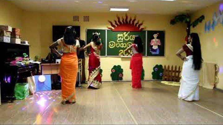 ඉන්දියානු නව වසර සඳහා ඉන්දීය නර්තනය / Индийский танец на индийский новый год / Indian dance for indi