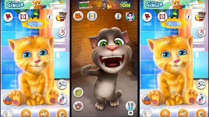 Мой говорящий Том и его друзья Джинджер Мультик игра для детей Развивающее видео