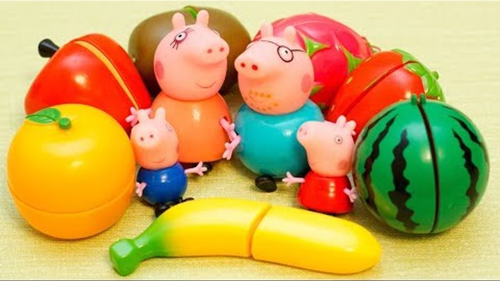 Свинка Пеппа новые серии Учим цвета и Фрукты Мультики с игрушками для детей Learn colors Peppa pig