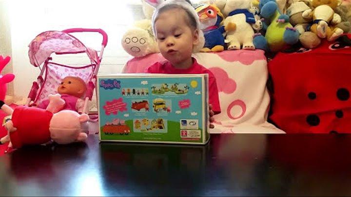 Свинка пеппа игрушки набор игры в школу Peppa Pig распаковка детский канал Даша просит телефон