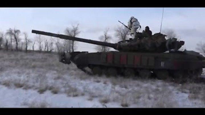 Эксклюзив Танки и спецгруппа ДНР в бою 29 01 Донецк War in Ukraine