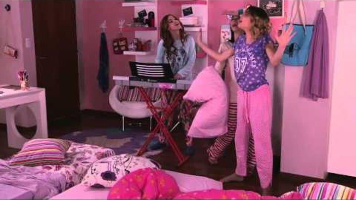 """Виолетта 3 - Фран, Ками и Вилу поют """"Encender nuestra luz"""" - серия 41"""