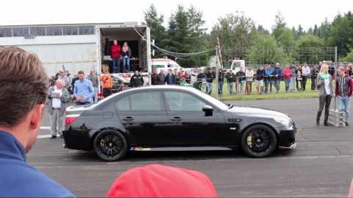 BMW M5 E60 5.8L - 116db ! - Loudest V10 Sound ever! STROKER @ Supercars Event Meinerzhagen HD