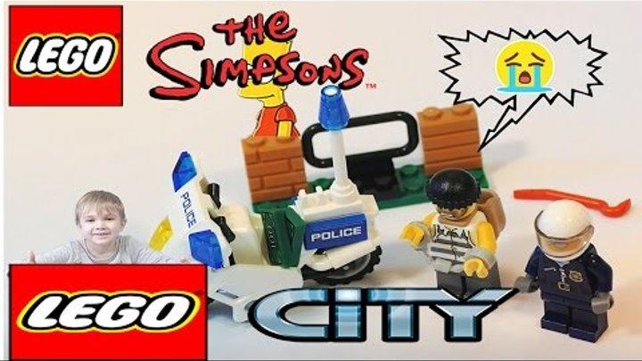 Лего Сити Полиция Мультик Открываем Lego Симпсоны Минифигурки