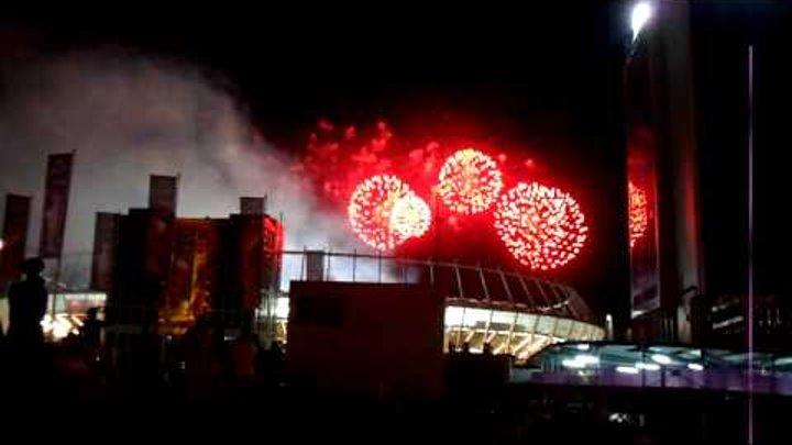 Финал Евро 2012: Салют над Олимпийским