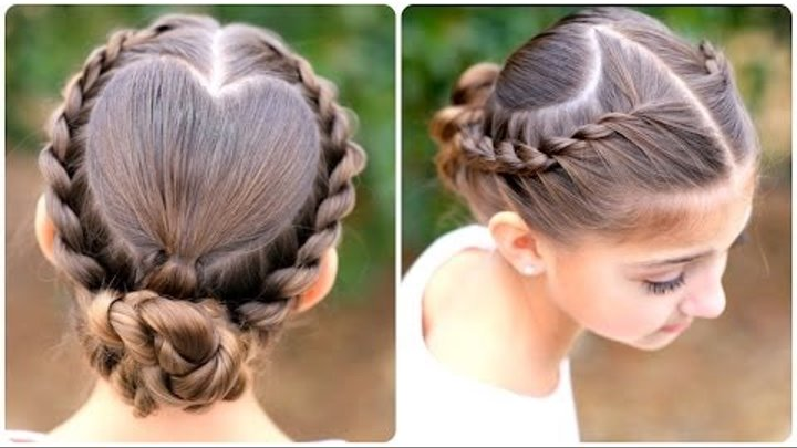 Rope Twisted Heart | Cute Girls Hairstyles