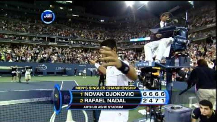 Novak Djokovic - Nadal US open 2011 final point