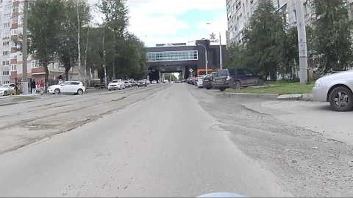 18 июля 2014г ул. Пермская и М. Горького заезд в гипер семью.