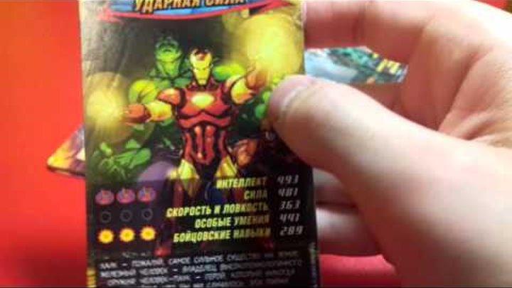 Упаковка карточек человек паук герои и злодеи