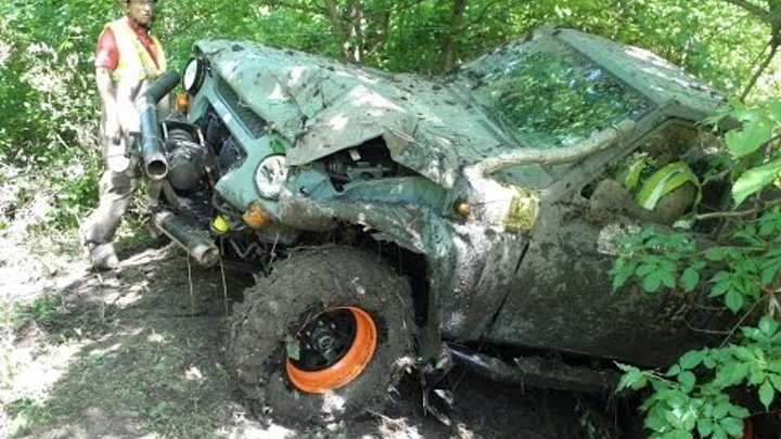 Смела трофи 2015 Рихтовка УАЗо-Патрола offroad 4x4 FUN Nissan Patrol