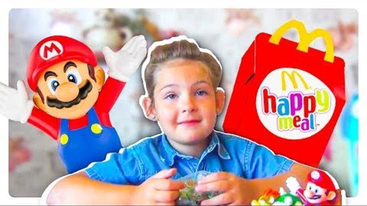 Хэппи Мил август 2017 Супер Марио Макдональдс ВЛОГ McDonald's Happy Meal's игрушки Super Mario VLOG