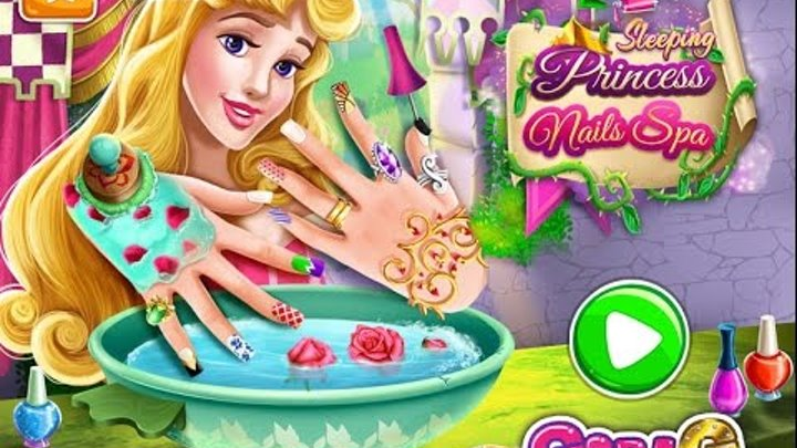 мультики для девочек—Спящая красавица маникюр—Игры для детей Sleeping Princess Nails Spa