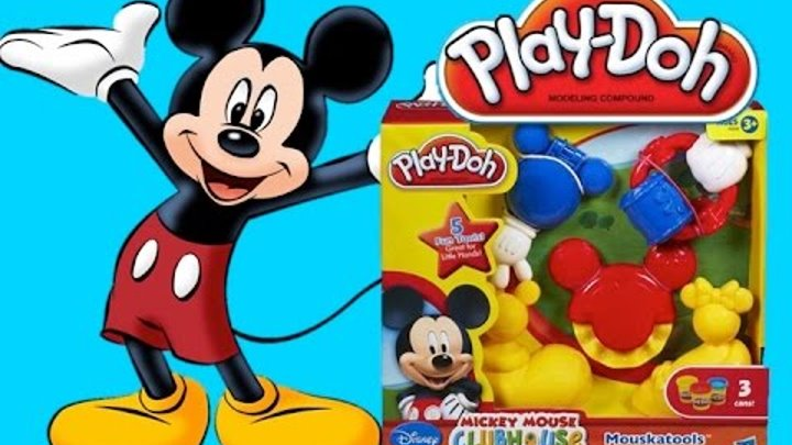 Play Doh Mickey Mouse Clubhouse Tools Плей до набор пластилина Клуб Микки Мауса инструменты