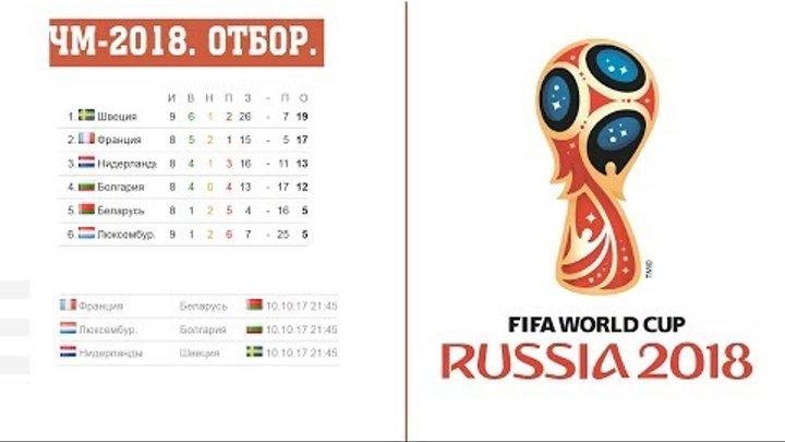 Чемпионат мира по футболу 2018. Отбор Европа группы. A. B. H. результаты, расписание и таблицы