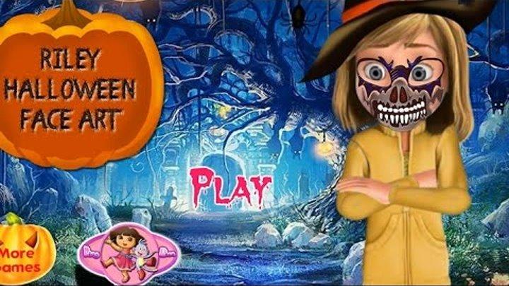 NEW Игры для детей—Disney Райли головоломка на Хэллоуин—Мультик Онлайн Видео Игры для девочек