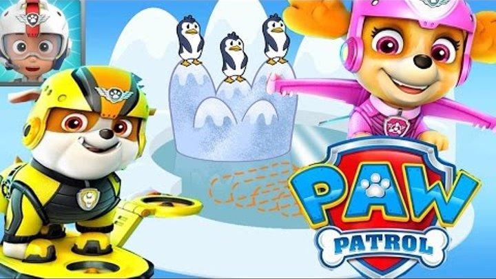 Щенячий Патруль.Спасение Пингвинов.Патрулелет в Полет.Скай Суперщенок.Мультик Игра на Русском