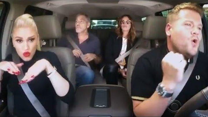 Gwen Stefani SLAYS Carpool Karaoke With James Corden, George Clooney & Julia Roberts
