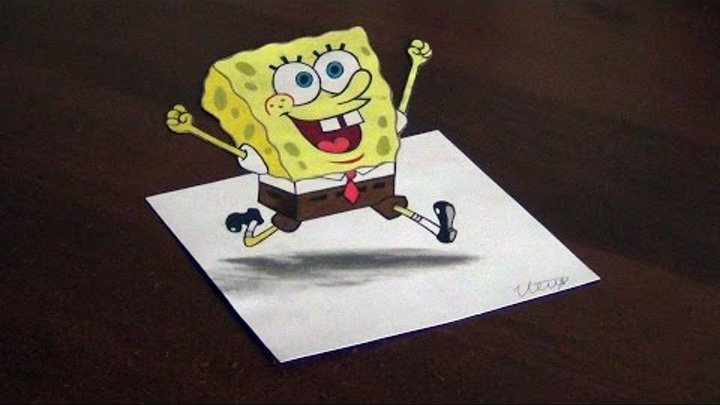 3D DRAWING - SpongeBob SquarePants (Губка Боб Квадратные Штаны) ISP 2015