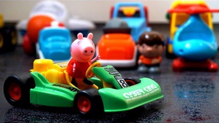 Свинка Пеппа и машины. Новая машина для Пеппы. Игрушечные машины