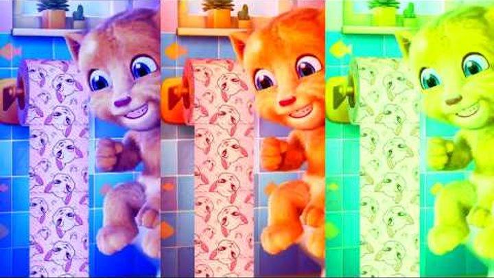 Учим цвета Мой говорящий Том Рыжий котик Джинджер Learn colors My talking Tom Ginger cat ginger