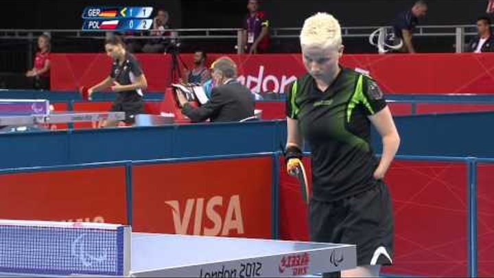Table Tennis - GER vs POL - Women's Singles - Class 6 Group B - London 2012 Paralympic Games