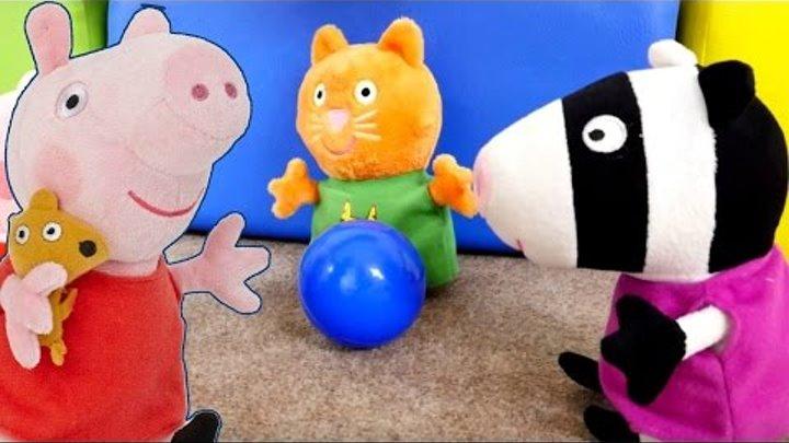 Свинка Пеппа и ее игрушки-друзья. Мультик про завтрак. Новое видео для детей.