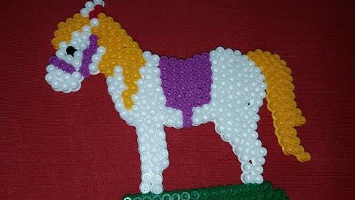 Pony beads Лошадка из бисера!!! делаем с детьми поделки из бисера