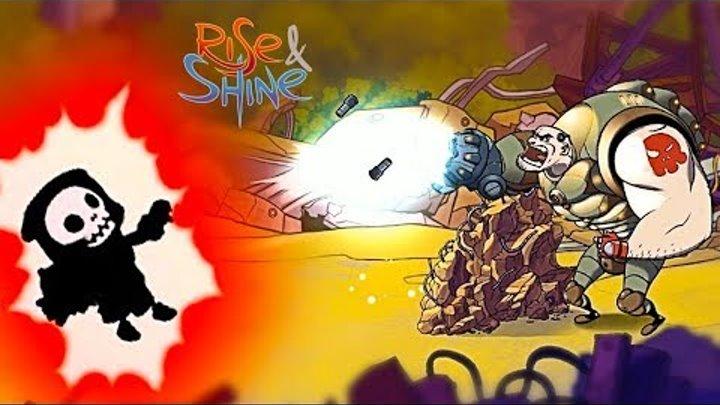 Новый игровой мультик КРУТАЯ ПУШКА КРУТОЙ ПАЦАН видео для детей в игре Rise & Shine Райз и Шайн