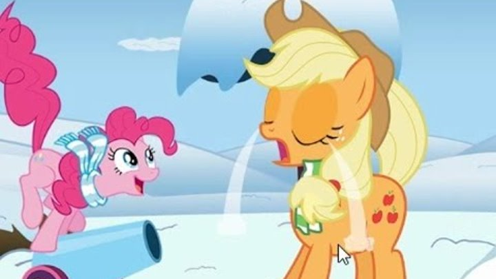 Шок!!! Пинки Пай стала доктором и лечит Эпл Джек! Май литл Пони мультик - игра на русском