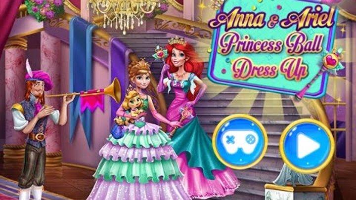 NEW мультики для девочек про принцесс—Одеваем с Максом принцесс Анну и Эльзу—Игры для детей