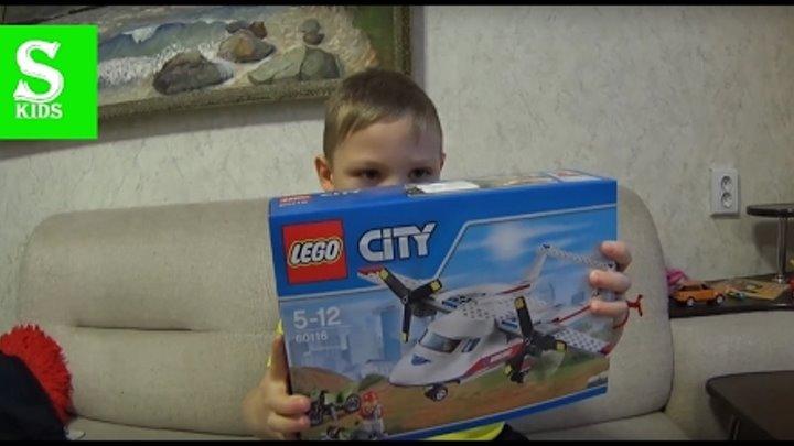 Лего Скорая Помощь 60116 Самолёт Скорой Помощи и Мотоциклист