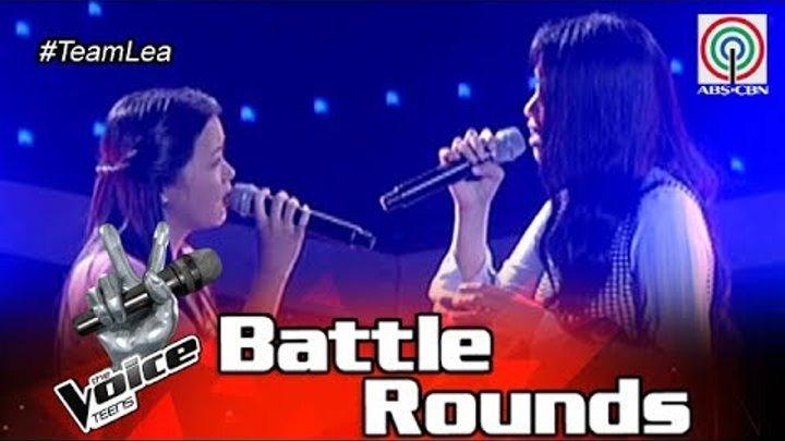 The Voice Teens Philippines Battle Round: Fatima vs  Shell - Sana Bukas Pa  Ang Kahapon