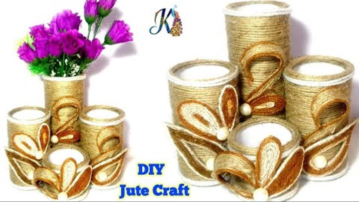 Diy Jute Craft Idea Best Useful Home Decor Jute Craft Idea Diy