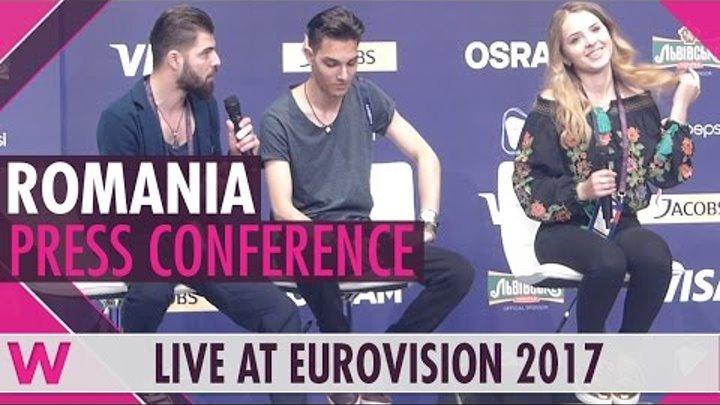 "Romania Press Conference — Ilinca ft. Alex Florea ""Yodel It!"" Eurovision 2017 | wiwibloggs"