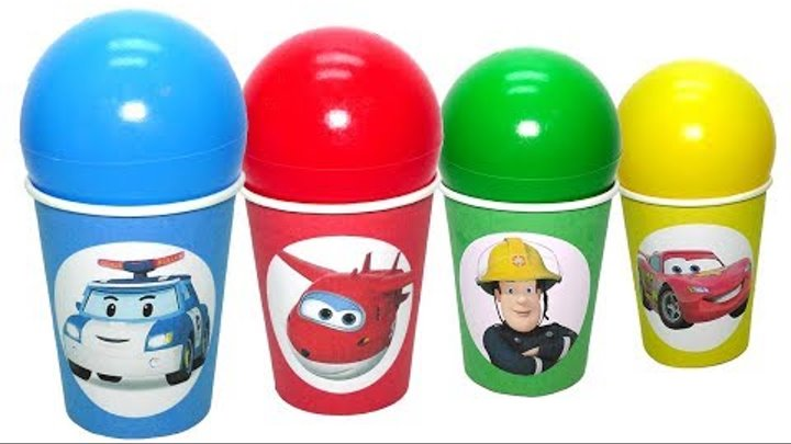 Робокар Поли Супер крылья Игрушки Учим цвета Super Wings Robocar Poli toys Learn colors with balls