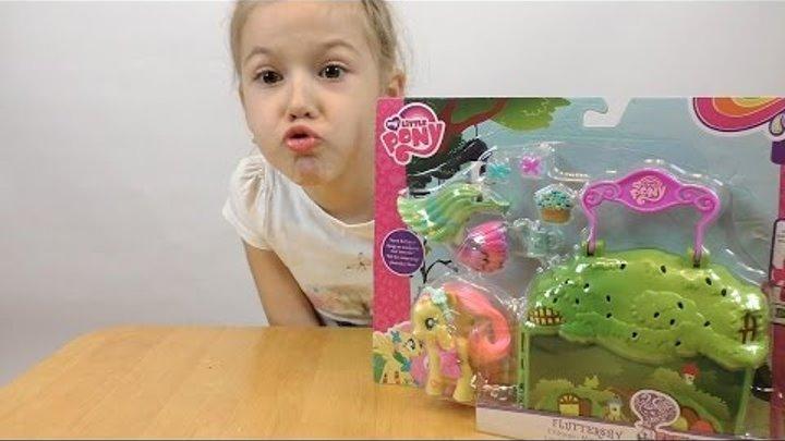 Май Литл Пони Флаттершай Эквестрия Распаковка и обзор Игрушки для девчонок