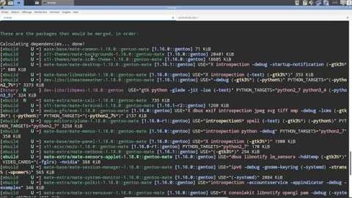 Installer le dernier MATE (1.18) sur Calculate Linux !